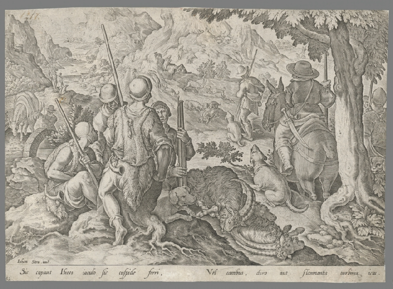 Philip Galle, Jan van der Straet, Neznámy rytec - Lov na kozorohy (52)