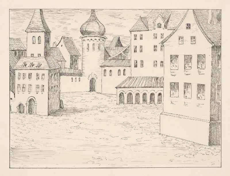 Stredoeurópsky kresliar z 2. polovice 19. storočia - Pohľad na námestie v Bratislave