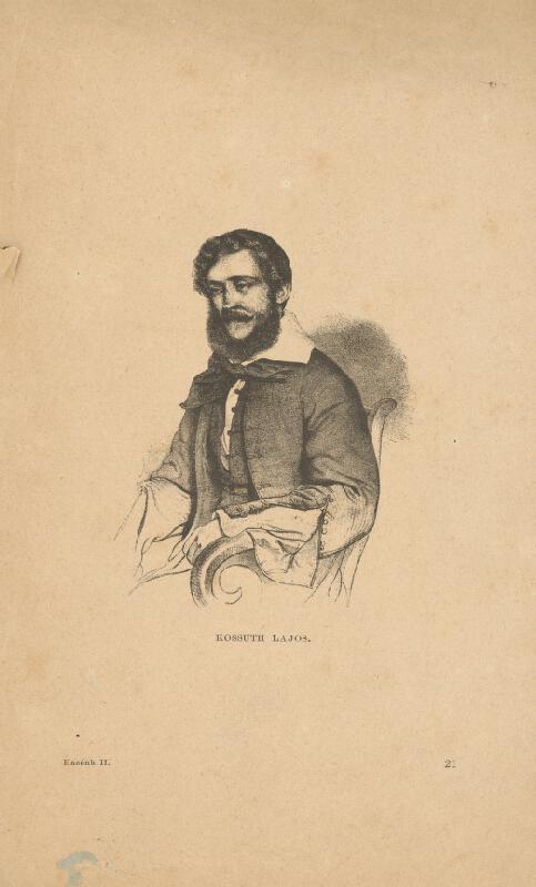Stredoeurópsky grafik z 19. storočia - Portrét Ľudovíta Kossutha