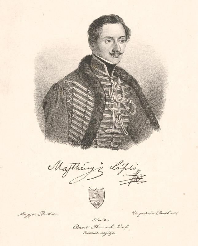Stredoeurópsky grafik z 19. storočia - Portrét Ladislava Majthényiho