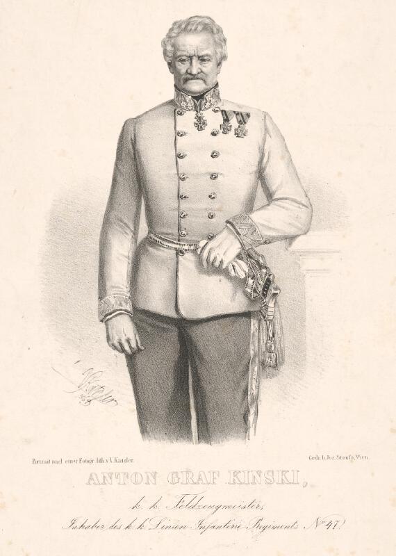 Vincenz Katzler - Portrét grófa Antona Kinského