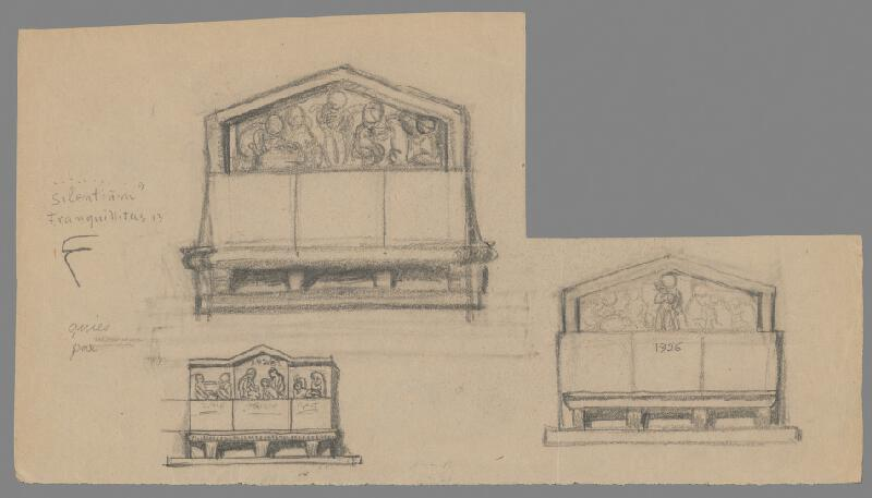 Alojz Rigele - Návrh na kamennú chrámovú lavicu