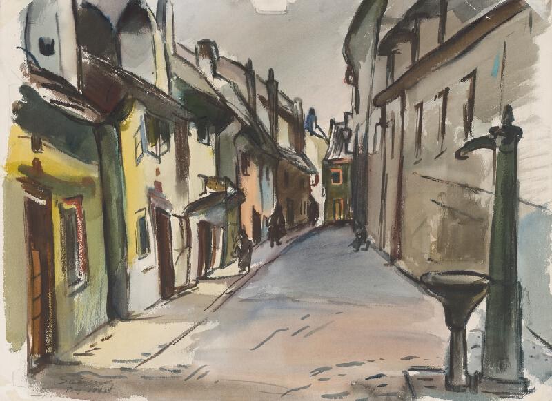 Frieda Salvendy - Alchymistická ulica v Prahe