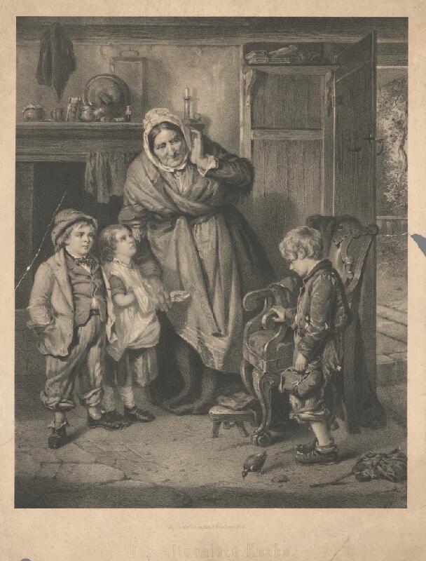 Stredoeurópsky grafik z 1. polovice 19. storočia - Sirota