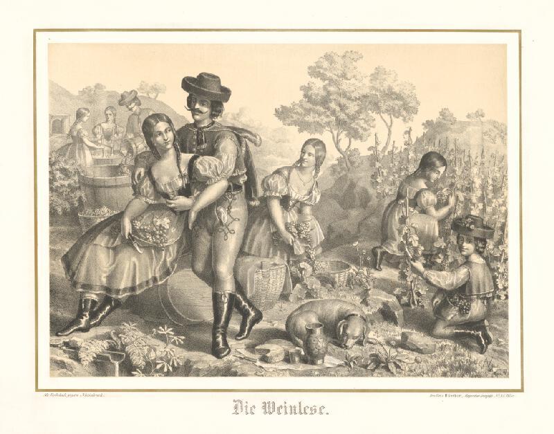 Stredoeurópsky grafik z 2. polovice 19. storočia - Oberačka