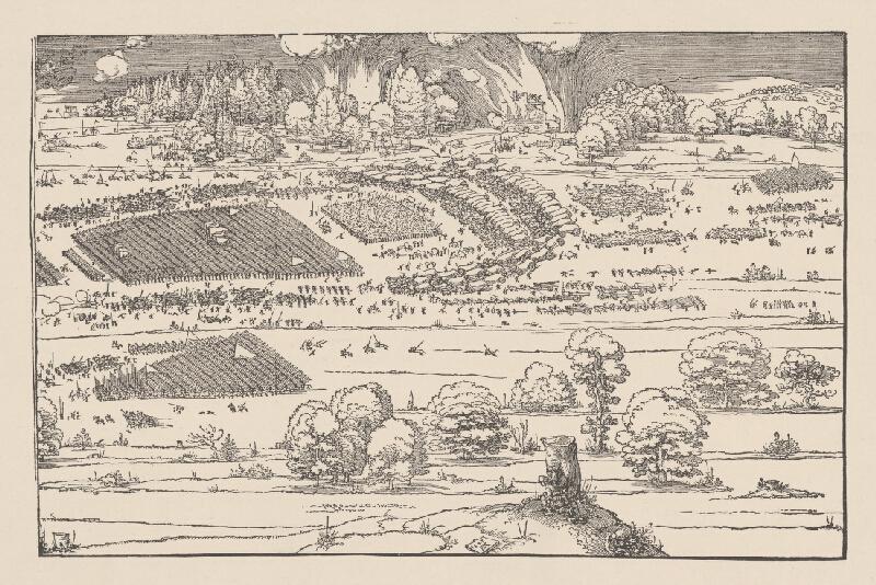 Stredoeurópsky grafik z 1. polovice 19. storočia - Vojnové ťaženie