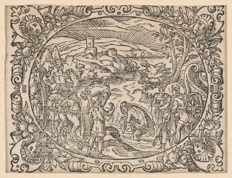 Stredoeurópsky grafik z 2. polovice 17. storočia - Výjav zo Starého zákona