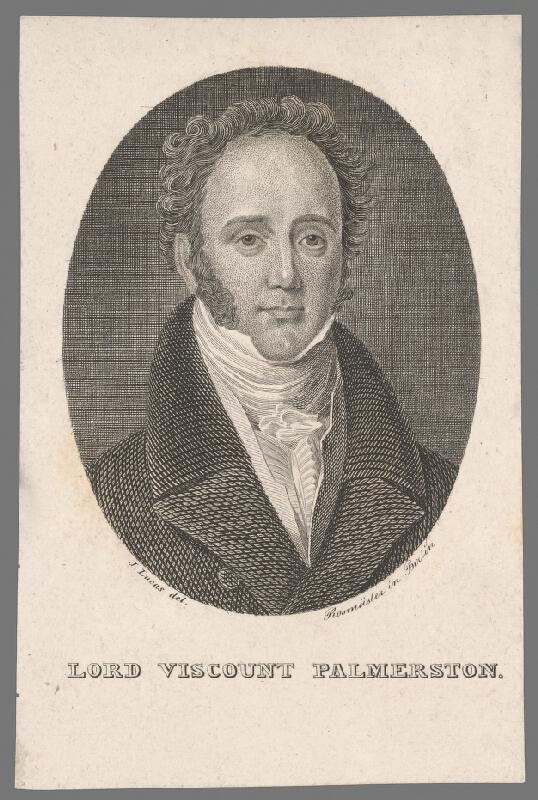 Friedrich J. Rossmäsler, John Lucas - Portrét lorda Visconta Palmerstona