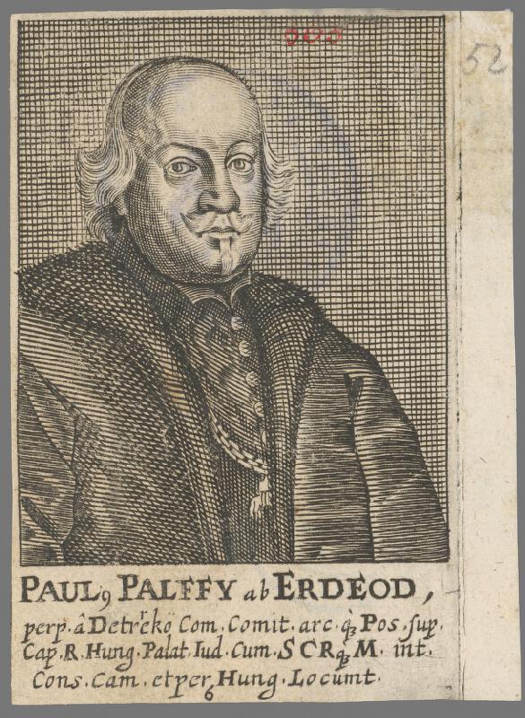 Stredoeurópsky grafik z 1. polovice 18. storočia - Pavol Pálffy z Erdödu