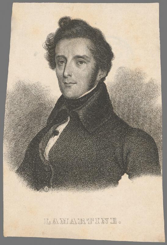 Stredoeurópsky grafik z 1. polovice 19. storočia - Portrét Alphonse de Lamartina