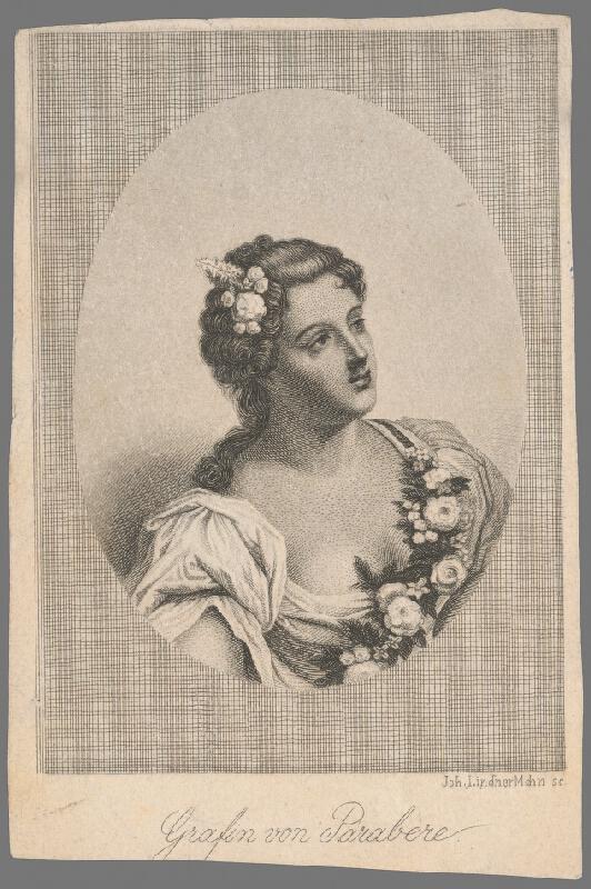 Johann Lindner - Portrét grófky de Parabére
