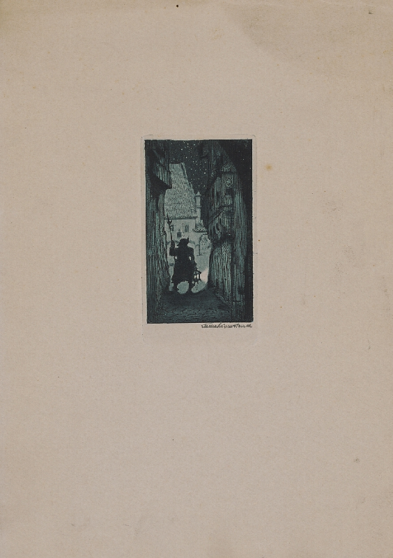 Stredoeurópsky grafik z 1. polovice 20. storočia - Nočný hlásnik