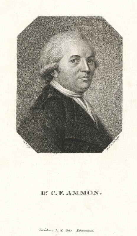 Friedrich Wilhelm Bollinger, Johann Jacob Lips - Portrét Christopha Friedricha Ammona