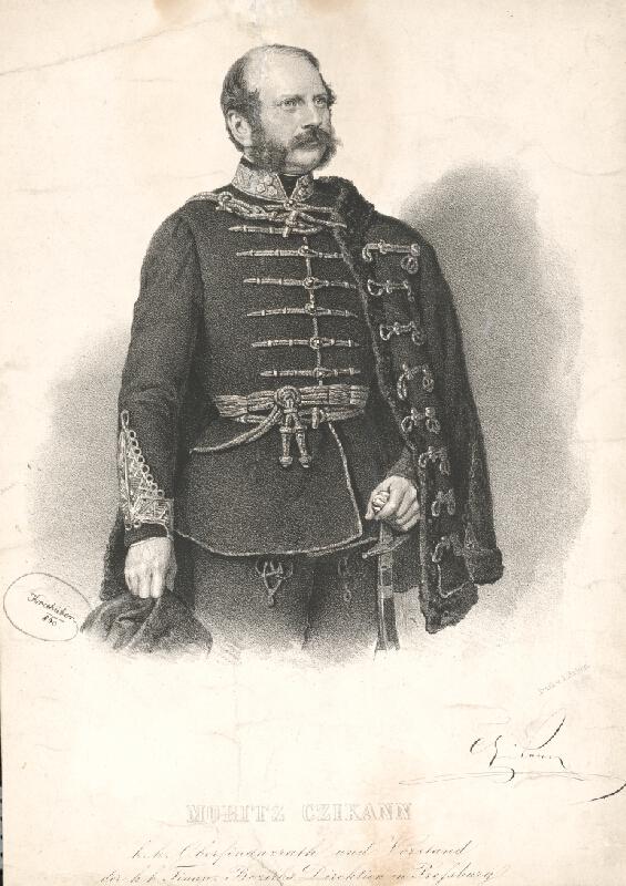 Joseph Kriehuber - Portrét Moritza Czikanna
