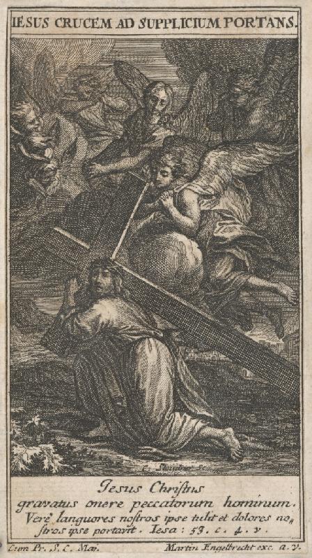 C. Steudner, Martin Engelbrecht - Ježiš padajúci pod krížom