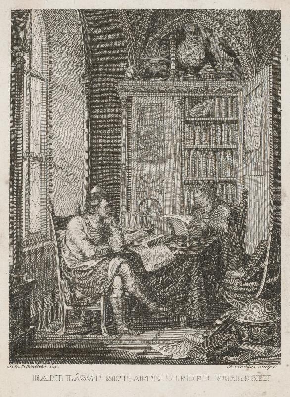 Francois Jacques Oberthür, Johann Michael Mettenleiter - Karol I. Veľký si dáva čítať staré piesne od Einharda