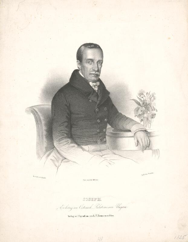Anton Stadler, Anton  Einsle - Portrét palatína Jozefa