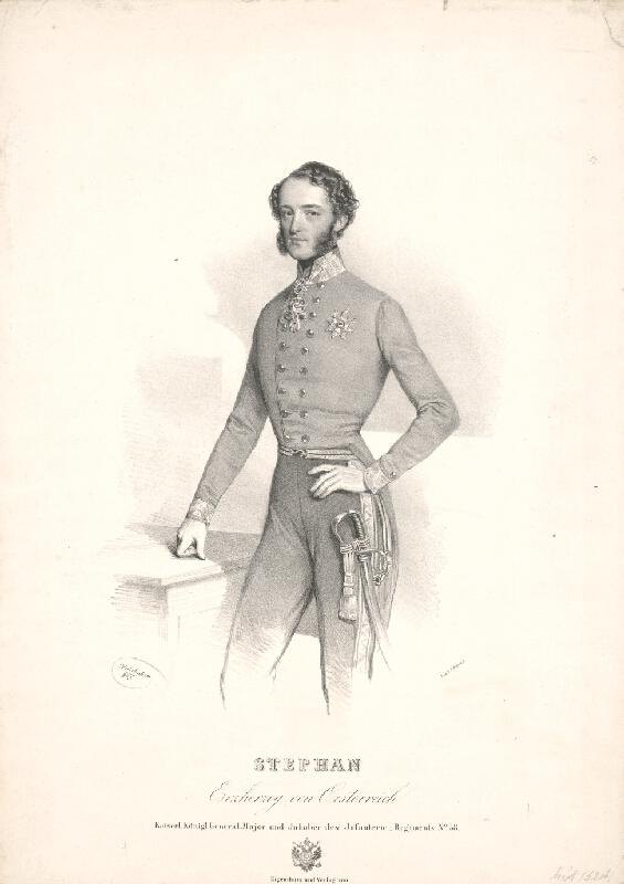 Joseph Kriehuber - Portrét arcikniežaťa Štefana Franza Viktora von Österreich