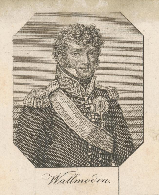 Stredoeurópsky grafik z 2. polovice 19. storočia - Podobizeň generála Wallmondena