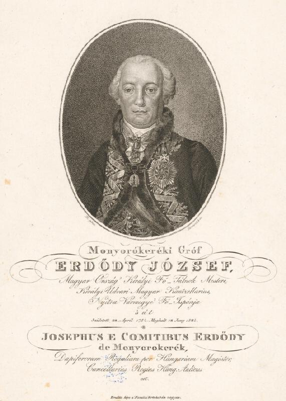 Adám Sándor Ehrenreich - Portrét grófa Jozefa Erdödyho