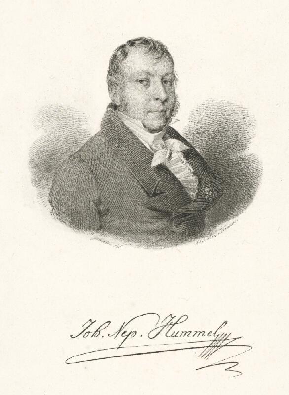 Franz Stöber, Grunter - Portrét J.H.Hummela