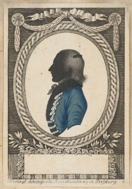 Stredoeurópsky grafik z 18. storočia - Silueta neznámeho muža