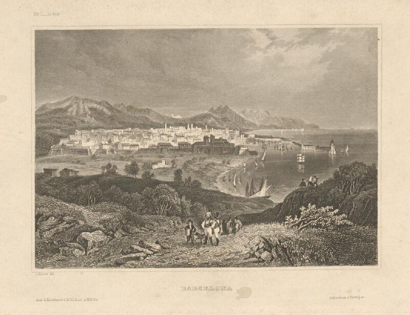 Nemecký grafik z 19. storočia - Barcelona