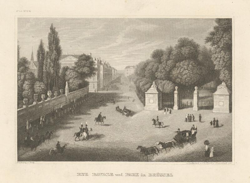 Johann Georg Martini, Robert Batty - Kráľovská cesta a park v Bruseli