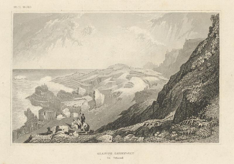 Nemecký grafik z 19. storočia - Giants Causeway v Írsku