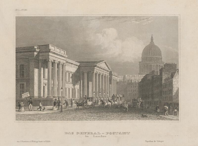 Stredoeurópsky grafik z 19. storočia - Generálny poštový úrad v Londýne