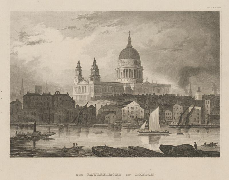 Stredoeurópsky grafik z 19. storočia - Kostol sv.Pavla v Londýne