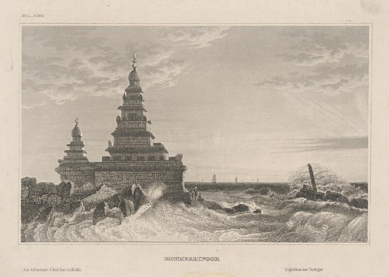 Stredoeurópsky grafik z 19. storočia - Mahabalipoor