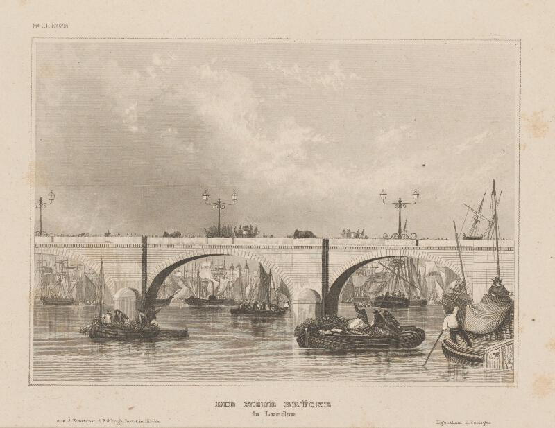 Stredoeurópsky grafik z 19. storočia - Nový most v Londýne