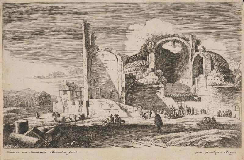 Herman van Swanevelt - Krajina s ruinou chrámu