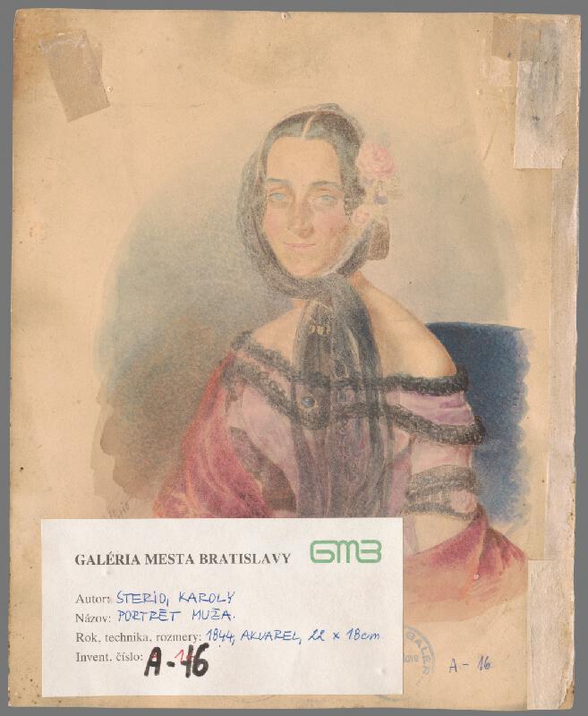 Károly Sterio - Portrét neznámeho muža