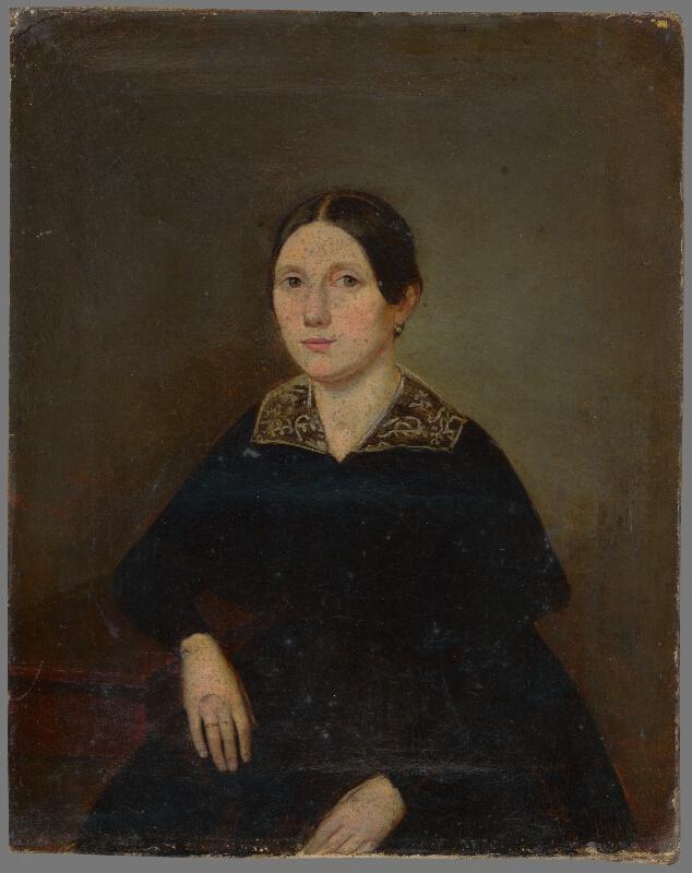 Stredoeurópsky maliar z polovice 19. storočia - Portrét neznámej ženy