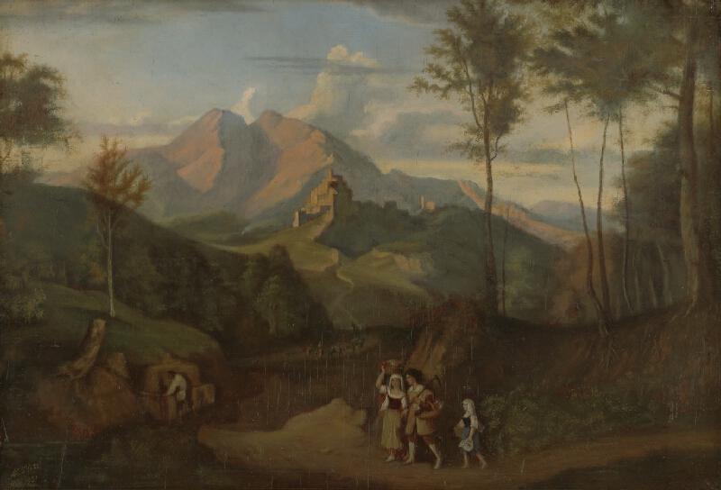 Moritz Stitz - Krajina so zrúcaninou