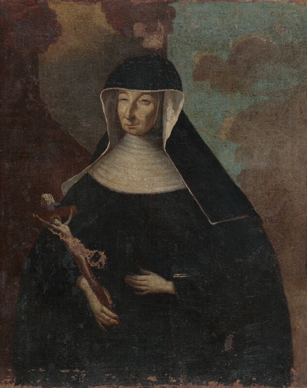 Stredoeurópsky maliar z polovice 18. storočia - Abatiša s krížom