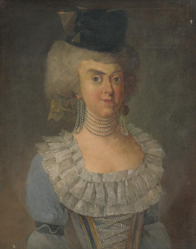 Maďarský maliar zo začiatku 20. storočia - Portrét grófky - manželky Franza Gyulaiho