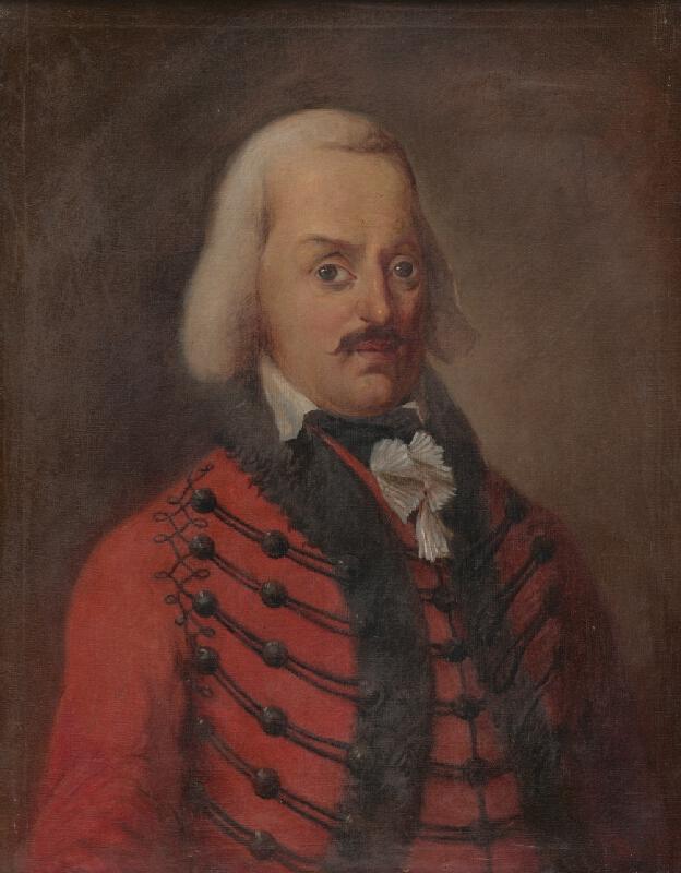 Maďarský maliar zo začiatku 20. storočia - Portrét grófa Samuela Gyulaiho
