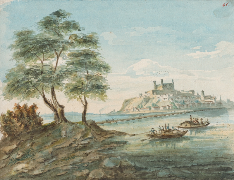 Slovenský maliar z 1. polovice 19. storočia - Bratislava z Petržalky