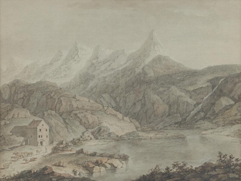 Adam Friedrich Oeser, Johann Friedrich Ludwig  Oeser, Franz  Schüz - Alpská krajina - Hospic v Svätobernardskom priesmyku