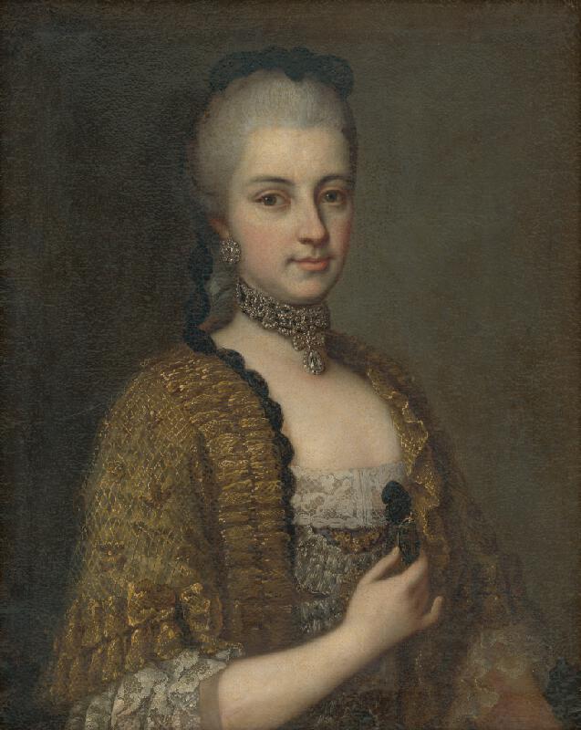 Daniel Schmidely - Portrét Márie Kristíny Habsbursko-Lotrinskej