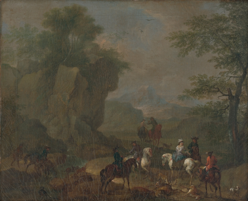 Franz Anton Grafenstein, Rakúsky maliar z polovice 18. storočia, Karl Josef Aigen - Poľovnícky výjav II.