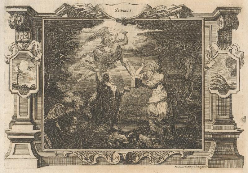 Michael Heinrich Rentz, Johann Daniel de Montalegre - Anjel rozsvecuje svetlo svätej Gudule