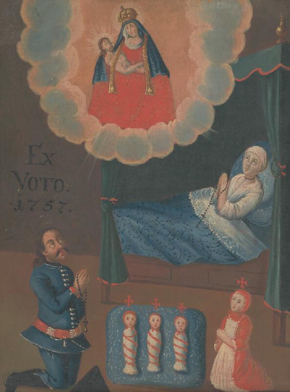 Slovenský maliar z 2. polovice 18. storočia - Votívny obraz s donátorom a jeho rodinou