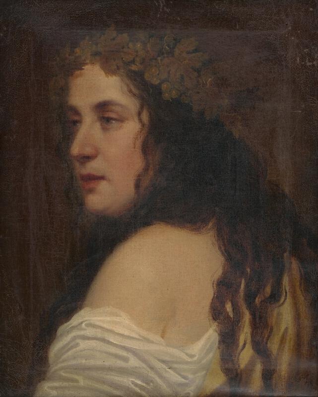 Stredoeurópsky autor z prelomu 19. - 20. storočia - Žena s révovým vencom