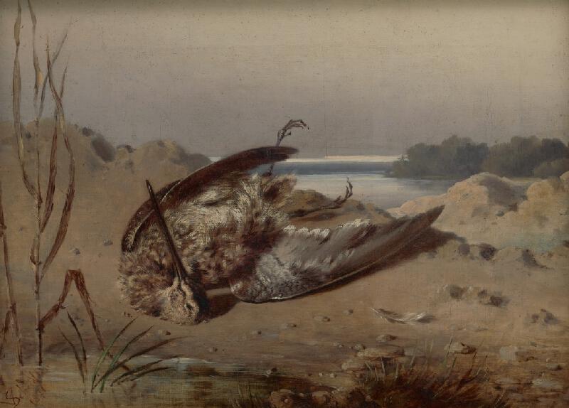 Friedrich Carl von Scheidlin - Zátišie s ulovenou slukou