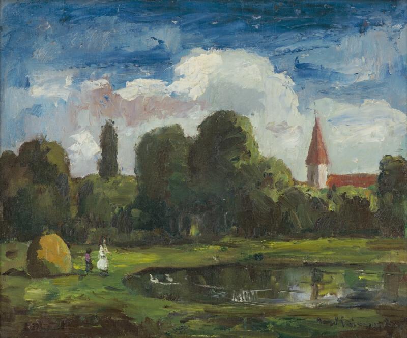 Béla Iványi-Grünwald - Krajina s jazerom