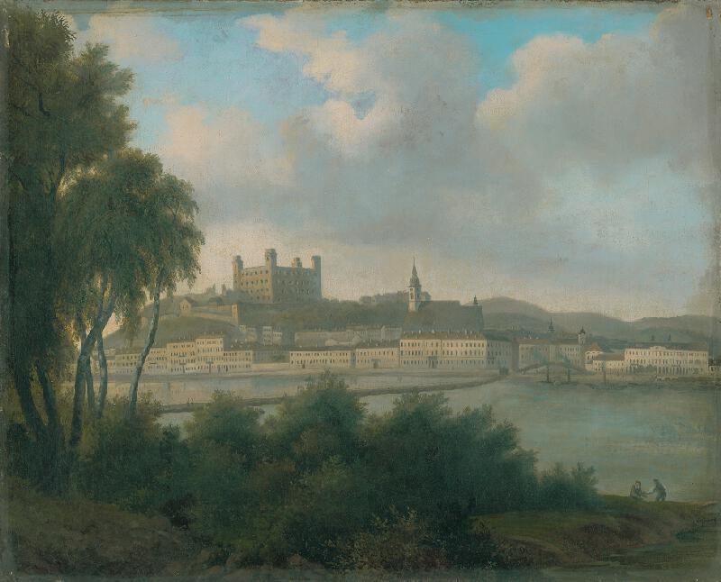 Stredoeurópsky maliar z 2. polovice 19. storočia - Pohľad na Bratislavu z Petržalky
